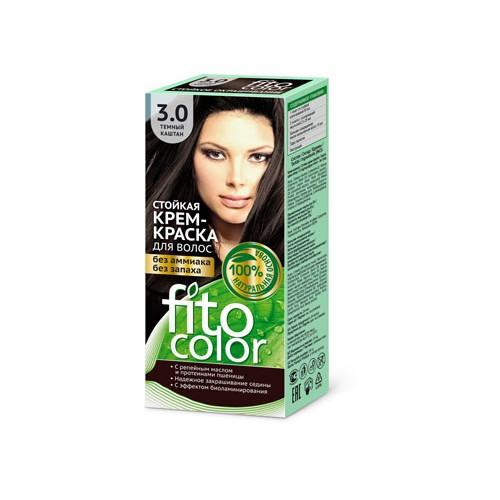 """Стойкая крем-краска для волос серии """"Fitocolor"""" 3.0 тон темный каштан"""