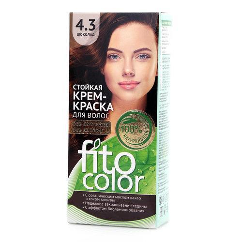 Крем-краска для волос оттенок 4.3 шоколад  Fito color