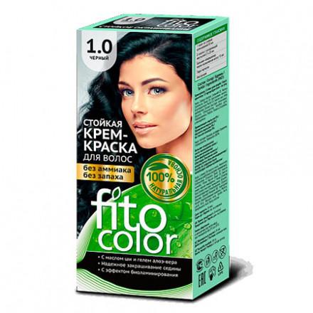 Крем-краска для волос «Фитокосметик» Фитоколор черный тон 1.0