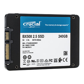 SSD 240GB Crucial BX500, SATA3 R540Mb/s W500MB/s 7mm