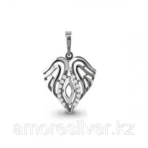 Подвеска Aquamarine серебро с родием, фианит, флора 23314А.5