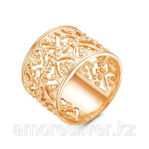 Кольцо Красная Пресня серебро с позолотой, без вставок, ажурное 2309097