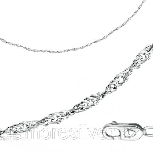 Цепь  серебро с родием, без вставок, сингапур 81040022755