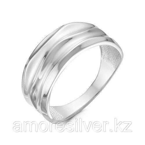 """Кольцо Delta серебро с родием, без вставок, """"линии"""" с211108"""