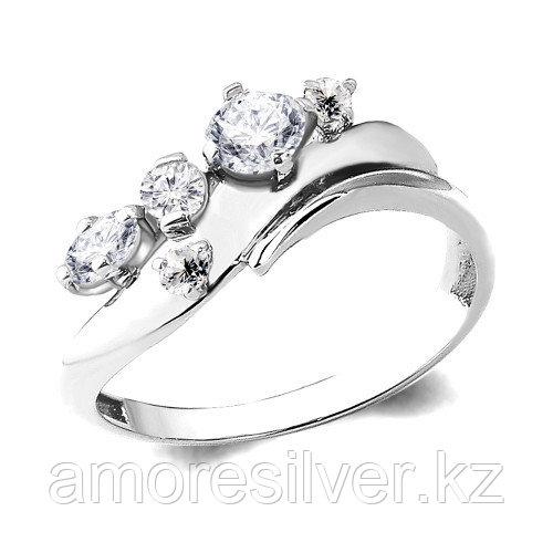 Кольцо Aquamarine серебро с родием, фианит, фантазия 64799А