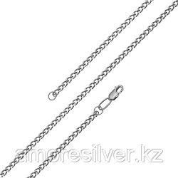 Цепь  серебро с родием, без вставок, панцирная 81045010145 размеры - 45