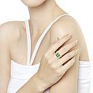 Кольцо SOKOLOV серебро с позолотой, ситалл фианит, флора 93010762, фото 2