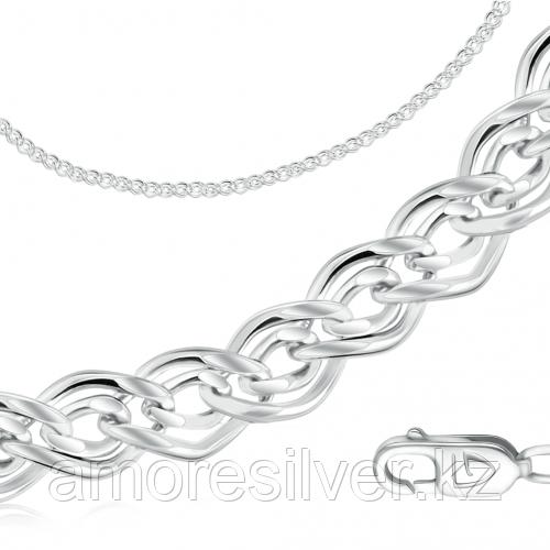 Цепь  серебро с родием, без вставок, нонна 81060500160