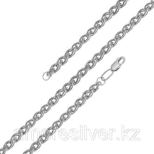 Цепь Адамант серебро с родием, без вставок, нонна Ср925Р-103607050