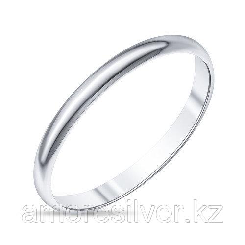 Кольцо Teosa серебро с родием, без вставок, гладкое T-003030