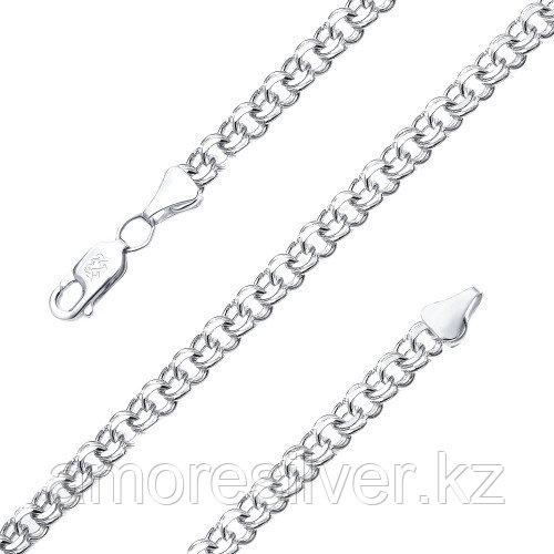 Цепь Адамант серебро с родием, без вставок, бисмарк ручной Ср925Р-107009060