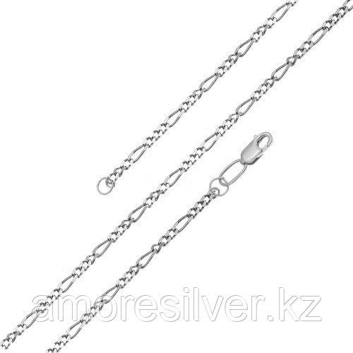 Цепь  серебро с родием, без вставок, фигаро 1-3 81050070145