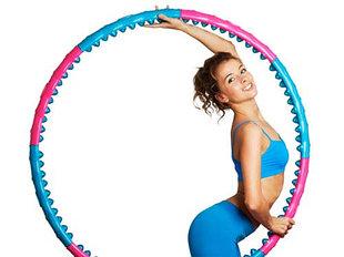 Обручи, Хулахуп, гимнастические, для похудения, металлические, детские