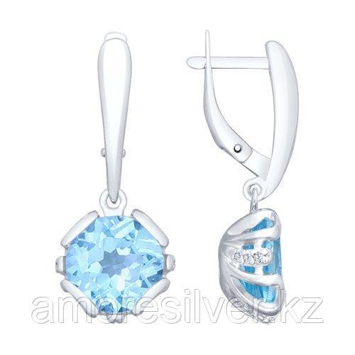 SOKOLOV серебро с родием, фианит топаз 92021980