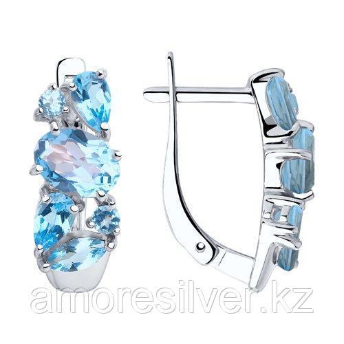 Серьги из серебра с топазами    SOKOLOV 92022014