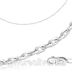 Цепь  серебро с родием, без вставок, якорная 81035141450