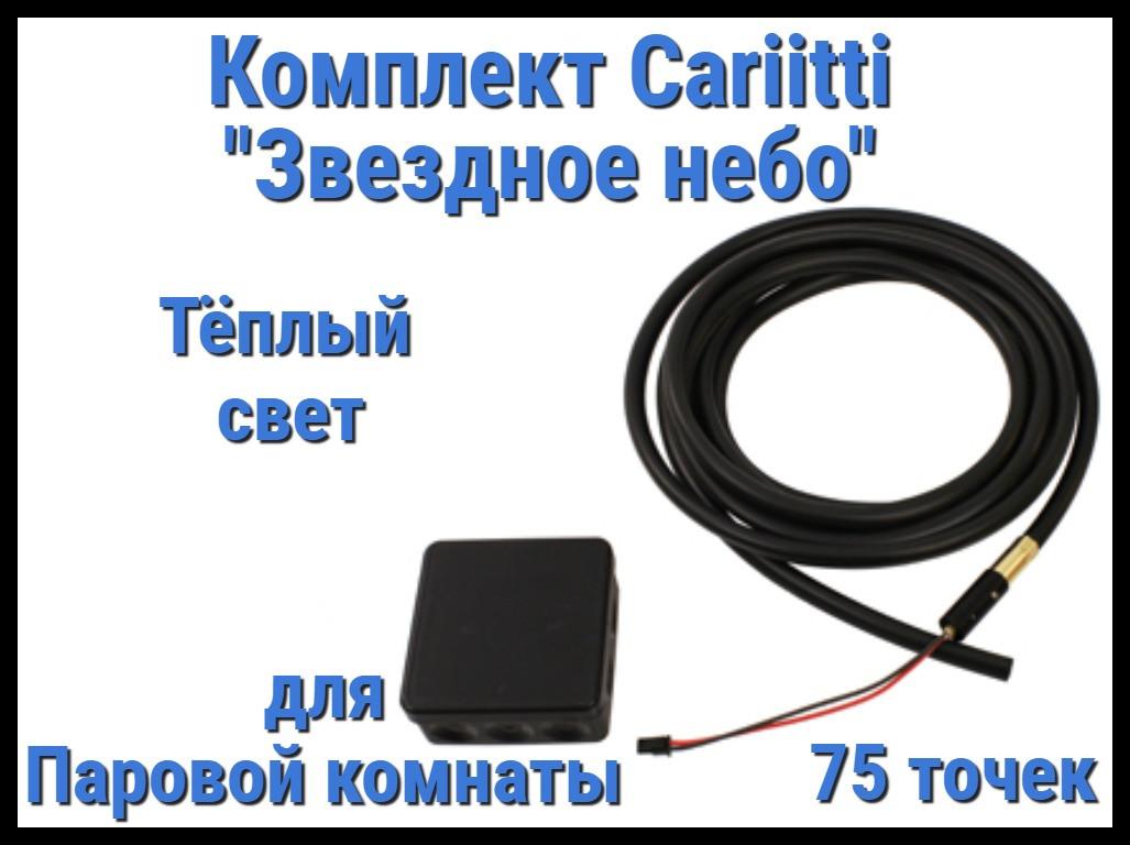 """Комплект Cariitti """"Звездное небо"""" 75 точек для Паровой комнаты (3000К - тёплый свет)"""