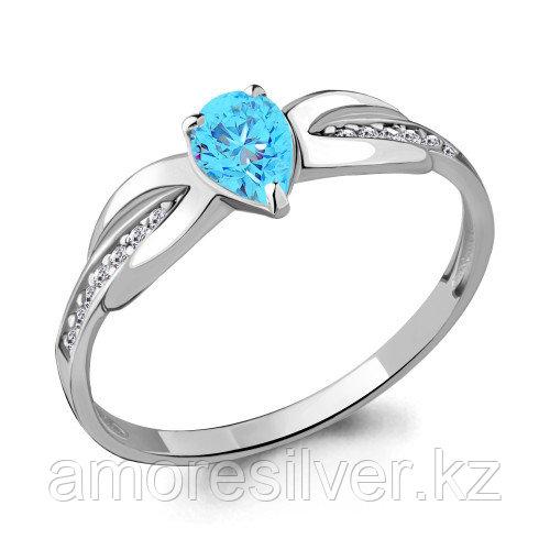 Серебряное кольцо с стеклом   Aquamarine 68500101Б