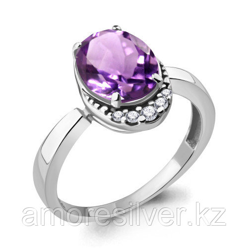 Кольцо из серебра с аметистом   Aquamarine 6917004А размеры - 18,5