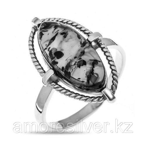 Кольцо из серебра с  и янтарем   ЯНТАРНАЯ ЛАГУНА 4LP369