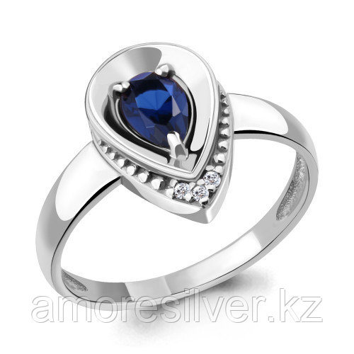 Серебряное кольцо с фианитом    Aquamarine 68483АБ