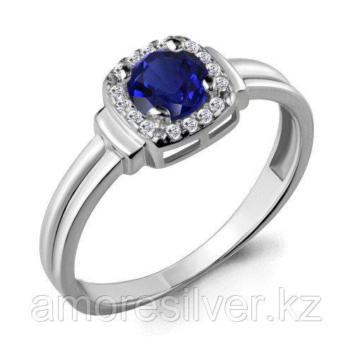Серебряное кольцо с фианитом и нано сапфиром   Aquamarine 66567Б