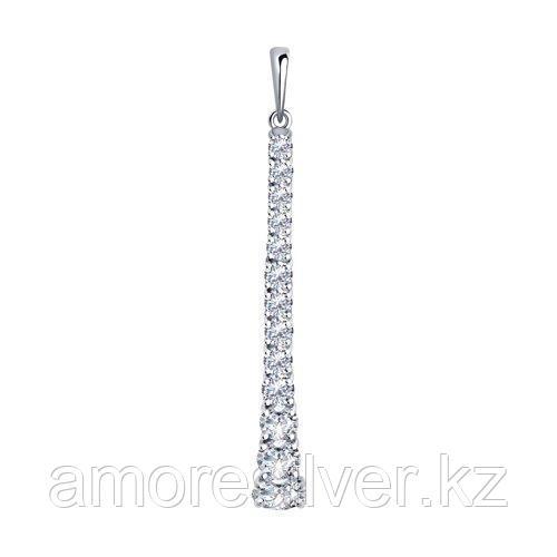 Подвеска из серебра с фианитами  SOKOLOV 94032436