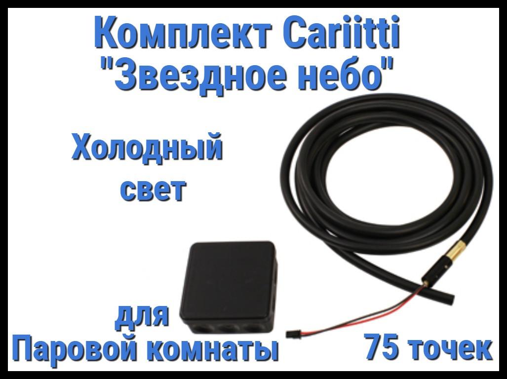 """Комплект Cariitti """"Звездное небо"""" 75 точек для Паровой комнаты (4000К - холодный свет)"""