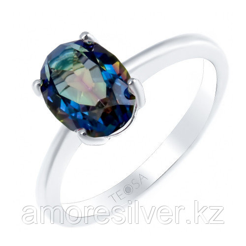 Кольцо из серебра с мистик bluish    Teosa R-DRGR00554-MQB размеры - 16,5 18