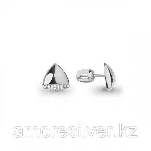 Серьги из серебра с фианитом   Aquamarine 45543А