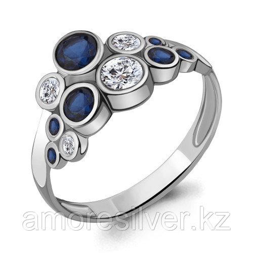 Серебряное кольцо с фианитом    Aquamarine 64267Б.5 размеры - 17,5