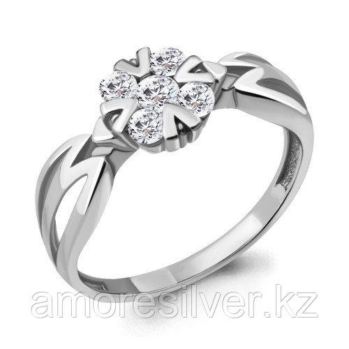 Кольцо из серебра с фианитом    Aquamarine 68611А.5 размеры - 18,5