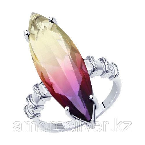 Серебряное кольцо с ситаллом и ситаллом синт.    SOKOLOV 94-310-00502-1