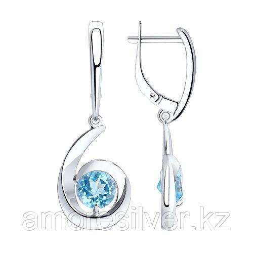 Серьги из серебра с топазами  SOKOLOV 92022073