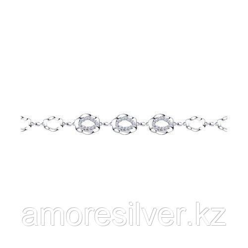 Браслет из серебра с фианитами  SOKOLOV 94050544 размеры - 16 17 18