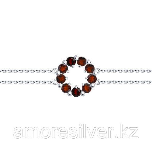 Серебряный браслет с фианитом    SOKOLOV 94-150-00345-2