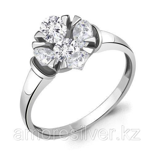 Серебряное кольцо с фианитом    Aquamarine 68578А.5