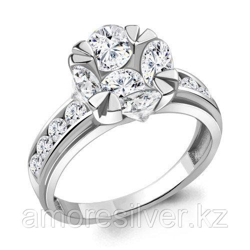 Серебряное кольцо с фианитом    Aquamarine 68583А.5 размеры - 17,5 18 19