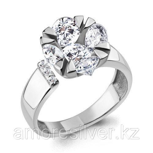 Кольцо из серебра с фианитом    Aquamarine 68584А.5 размеры - 18,5