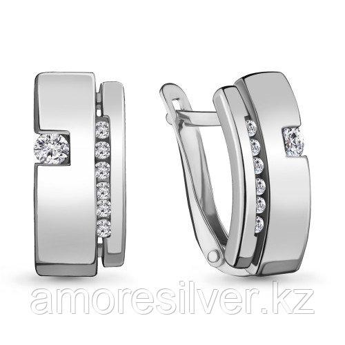 Серебряные серьги с фианитом    Aquamarine 48025А.5
