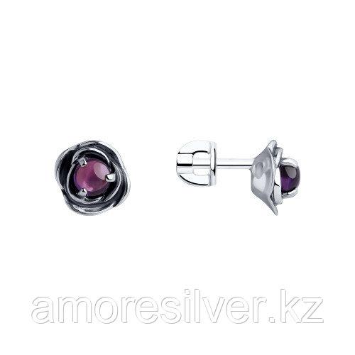 Серьги из серебра с аметистом   SOKOLOV 92022169