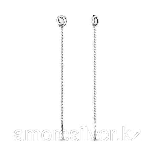 Серебряные серьги   Aquamarine 33528.5