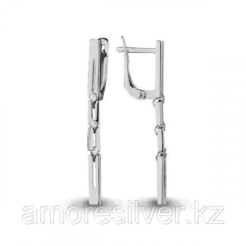 Серьги из серебра с фианитом   Aquamarine 45516А.5
