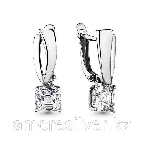 Серьги из серебра с фианитом swarovski   Aquamarine 43946.5