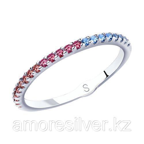 Кольцо из серебра с фианитами  SOKOLOV 94012904 размеры - 16,5 17,5 19,5