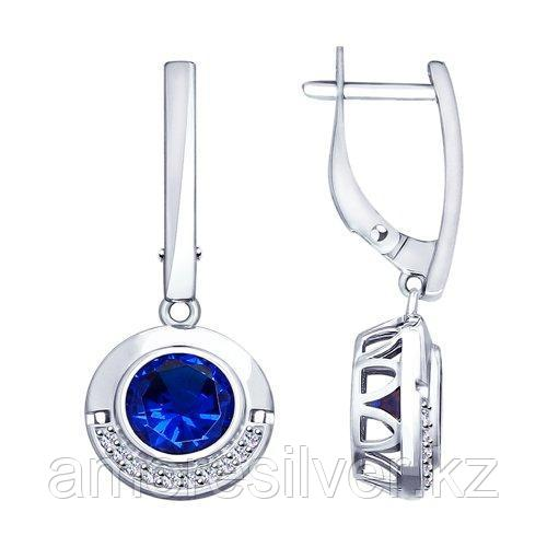Серьги из серебра с фианитами   SOKOLOV 94023458