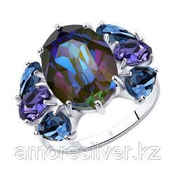 Кольцо SOKOLOV серебро с родием, кристалл swarovski  94013055 размеры - 16,5 17