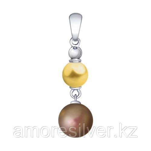 Подвеска из серебра с жёлтым и коричневым жемчугом Swarovski    SOKOLOV 94032141