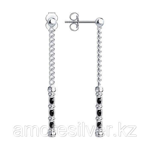 Серьги из серебра с фианитами  SOKOLOV 94024516