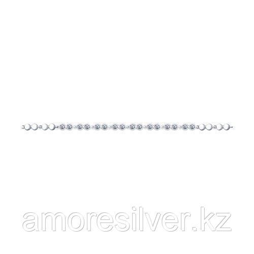 Браслет из серебра с фианитами  SOKOLOV 94050385 размеры - 17 18